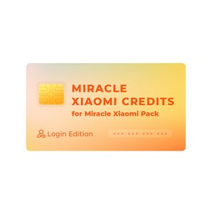 Miracle Xiaomi Credits for Miracle Xiaomi Pack (Login Edition)