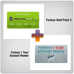 Renovación de acceso al servidor Furious Gold por 1 año  + Furious Gold Pack 3