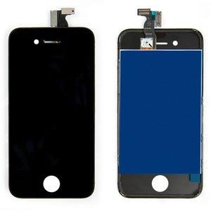 Дисплей для iPhone 4, черный, с сенсорным экраном, с рамкой, HC