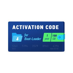 Активационный код Boot-Loader 2.0 (1 год, 100 ГБ)